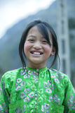 Ethnic minority girl at Lung Cam village Royalty Free Stock Photos