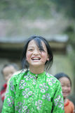 Ethnic minority girl smiling at Lung Cam village Royalty Free Stock Photos