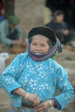 Ethnic minority old women's dresses, at old Dong Van market Royalty Free Stock Image