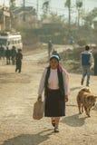 Ethnic minority women go to market Stock Images