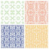 Ethnic monochrome patterns Stock Photo