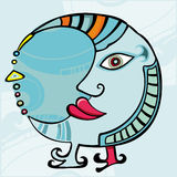 Ethnic Moon. design element Stock Images