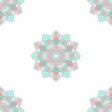 Ethnic motif hand drawn colored seamless background. Vector illu. Stration Stock Photos