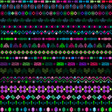 Ethnic motifs with multicolored elements Royalty Free Stock Images
