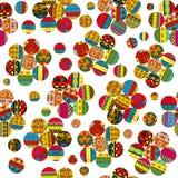 Ethnic motifs patchwork flowers Stock Image