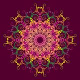 Ethnic multicolor mandala. Royalty Free Stock Images