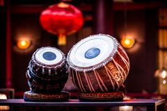 An ethnic musical instruments tabla Stock Photo