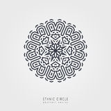 Ethnic mystical pattern with triangle and circles. Royalty Free Stock Photo