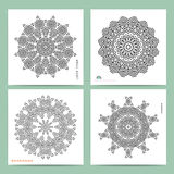 Ethnic mystical pattern with triangle and circles. Stock Photography