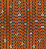 Ethnic natural pattern with circles. Ornamental native background Stock Image