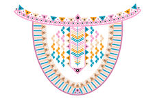 Ethnic Neck Embroidery Royalty Free Stock Photo