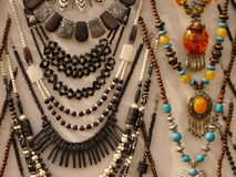 Ethnic necklaces stock images