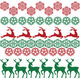 Ethnic nordic christmas seamless pattern background with deer Royalty Free Stock Images