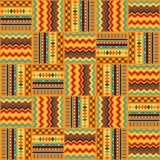 Ethnic ornament abstract geometric seamless fabric Stock Images