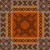 Ethnic ornament carpet design Royalty Free Stock Image