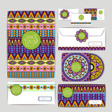 Ethnic ornament. Document template Royalty Free Stock Photography