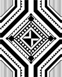 Ethnic ornament. Geometric patterns in ethnic style on the basis of square Stock Image