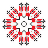 Ethnic ornament mandala geometric patterns in red color Royalty Free Stock Photography