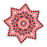 Ethnic ornament mandala geometric patterns in red color Royalty Free Stock Photos