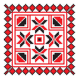 Ethnic ornament mandala geometric patterns in red color Royalty Free Stock Photo