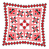 Ethnic ornament mandala geometric patterns in red color Stock Photography