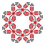 Ethnic ornament mandala geometric patterns in red color Stock Photo