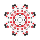 Ethnic ornament mandala geometric patterns in red color Stock Image