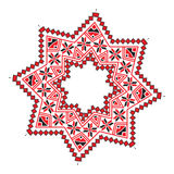 Ethnic ornament mandala geometric patterns in red color Royalty Free Stock Images