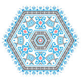 Ethnic ornament mandala pattern in different colors Royalty Free Stock Photography