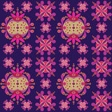 Ethnic ornament seamless pattern inspired by fusion of Ukrainian, Indian and Mexican traditional motifs. Vector, Ethnic ornament seamless pattern inspired by Royalty Free Stock Photography