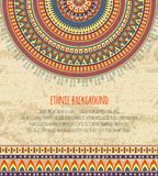 Ethnic Ornament and Texts for Background Design Stock Image