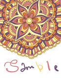Ethnic ornamental boho background with place for text. Vector floral banner  Stock Images