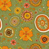 Ethnic ornamental mandala tile vector seamless pattern Stock Photos