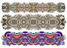 Ethnic ornamental paisley floral pattern for made bracelet Stock Photography