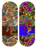 Ethnic ornamental paisley floral pattern for made bracelet Stock Photo