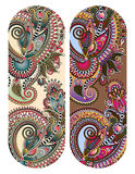 Ethnic ornamental paisley floral pattern for made bracelet Stock Photos