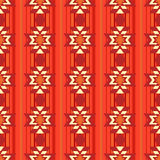 Ethnic ornamental pattern in red Stock Photography