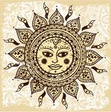 Ethnic ornamental sun Stock Photography