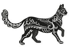 Ethnic ornamented cat Stock Image