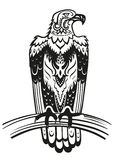 Ethnic ornamented eagle Stock Images