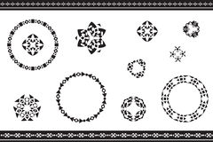 Ethnic ornamented elements of pattern Stock Images