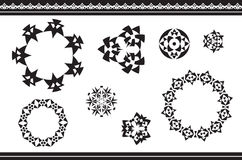 Ethnic ornamented elements of pattern Stock Image