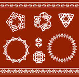 Ethnic ornamented elements of pattern Royalty Free Stock Photography