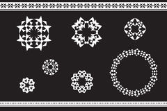 Ethnic ornamented elements of pattern Stock Photography