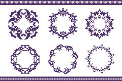 Ethnic ornamented elements of pattern Royalty Free Stock Photo