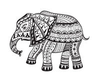 Ethnic ornamented elephant Royalty Free Stock Photography