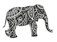 Ethnic ornamented elephant Stock Photo