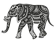 Ethnic ornamented elephant Royalty Free Stock Photography