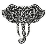 Ethnic ornamented elephant Stock Image