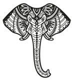 Ethnic ornamented elephant Royalty Free Stock Photos